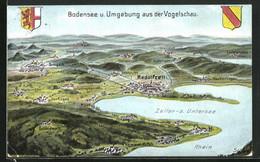 AK Radolfzell, Bodensee Und Umgebung Aus Der Vogelschau - Radolfzell