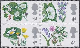 GRANDE-BRETAGNE, 1967, Fleurs (Yvert 465 Au 468 ) - Unused Stamps