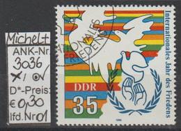 "1986 - DDR - SM ""Internat. Jahr D. Friedens""  35 Pfg. Mehrf - O Gestempelt - S.Scan (3036o 01-03    Ddr) - Gebraucht"