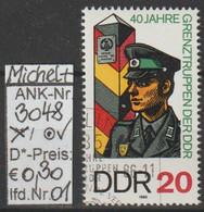 "1986 - DDR - SM ""40 Jahre Grenztruppen D. DDR""  20 Pfg. Mehrf - O Gestempelt - S.Scan (3048o 01-03    Ddr) - Gebraucht"