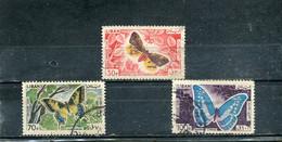 Liban 1965 Yt 332 336 338 Timbres Pour La Poste Aérienne Papillons Divers, Même Présentation - Lebanon