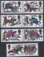 GRANDE-BRETAGNE, 1966, Scène De Bataille (Yvert 453 Au 458 + 460 ) - Unused Stamps