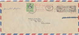 Jamaica Air Mail Cover Sent To USA Kingston 29-4-1960 With Meter Cancel And 1 Stamp - Jamaica (1962-...)