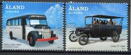 Finnland Alandinseln Finland Aland Islands Mi# 365-6 Postfrisch/MNH - Cars - Ålandinseln