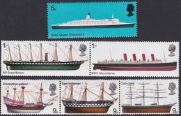 GRANDE-BRETAGNE, 1969, Bateau (Yvert 549 Au 554 ) - Unused Stamps