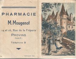 PY / Petit Calendrier De Poche 1952 PHARMACIE M.Mougenot PROVINS ( 77 ) - Petit Format : 1941-60