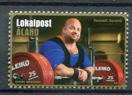 Finnland Alandinseln Finland Aland Islands Mi# 393 Postfrisch/MNH - Weight Lifter - Ålandinseln