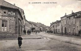 81 - Carmaux - Avenue De Rodez (animée, Edit. E Cahuzac) - Carmaux