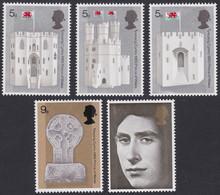 GRANDE-BRETAGNE, 1969, Chateau, Prince Charles (Yvert 569 Au 573 ) - Unused Stamps