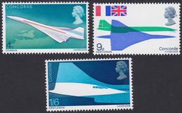 GRANDE-BRETAGNE, 1969, Avion, Concorde (Yvert 555 Au 557 ) - Unused Stamps