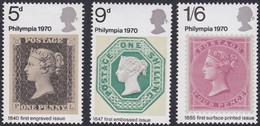 GRANDE-BRETAGNE, 1970, Philynpia (Yvert 599 Au 601 ) - Unused Stamps