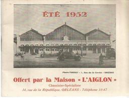 PY / Ancien LIVRET HORAIRES Lignes Des TRAIN 1952 L'AIGLON ORLEANS Rail Route 50 Pages !!! Trains Bus - Other