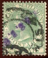 Pays : 289 (Malacca : Colonie Britannique)  Yvert Et Tellier N° :   40 (o) Double Oblitéraion - Straits Settlements