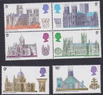 GRANDE-BRETAGNE, 1969, Chateau, Cathédrale (Yvert 563 Au 568 ) - Unused Stamps
