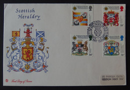 1987 GB Scottish Heraldry FDC - 1981-1990 Dezimalausgaben