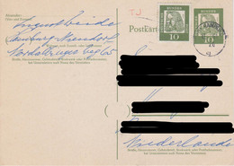 Germany - East Germany - Postal Stationery - Albrecht Dürer With Mi 350 Dürer - Canceled In Hamburg In 1961 - Postkarten - Ungebraucht