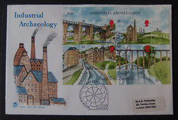 1989 GB Industrial Archaeology MS FDC - 1981-1990 Dezimalausgaben