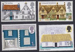 GRANDE-BRETAGNE, 1970, Architecture, Maison Rurale (Yvert 582 Au 585 ) - Unused Stamps