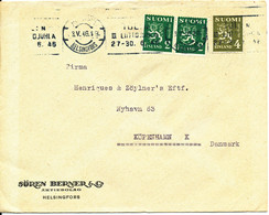Finland Cover Sent To Denmark Helsinki 3-5-1946 - Briefe U. Dokumente