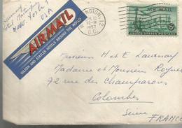 PY / Enveloppe Publicitaire Et Lettre 1957 HOTEL STATLER WASHINGTON D.C.    U.S.A   Etats-Unis - Used Stamps