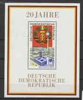 DDR Y/T Blok 24 (**) - Blocks & Kleinbögen