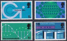 GRANDE-BRETAGNE, 1969, Technologie Postale (Yvert 575 Au 578 ) - Unused Stamps
