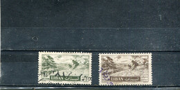 Liban 1957 Yt 140 142 Timbres Pour La Poste Aérienne Série Courante - Lebanon