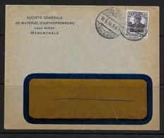 Brief  Bezetting  1918  Herenthals Usine Moser Materiel D'entrepreneurs , Germania 15ct - Other Covers