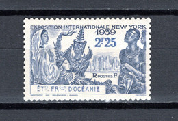 OCEANIE  N° 129  NEUF AVEC CHARNIERE COTE  2.80€    EXPOSITION DE NEW YORK - Unused Stamps