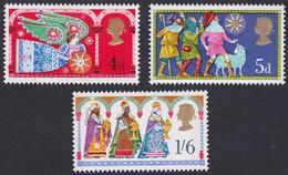 GRANDE-BRETAGNE, 1969, Noel, Ange, Berger, Roi Mage (Yvert 579 Au 581 ) - Unused Stamps