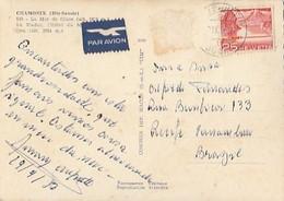 Switzerland & Circulated, Chamonix, La Mer De Glace,  Le Viaduc,'Hotel Du Montenvers Et Le Dru, Recife Brazil 1956 (538) - Cartas