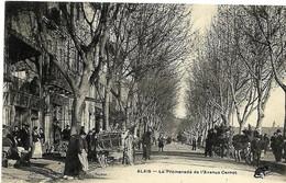 A2 Gard 30 ALES ALAIS Promenade Avenue Carnot Animée  TBE - Alès