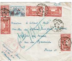 CTN74 - MAROC LETTRE AVION CASABLANCA / PARIS 9/7/1922 VIGNETTE GUYNEMER - Covers & Documents