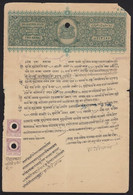 India BHARATPUR STATE 2a Stamp Paper With 1a Revenue Stamp Pair  British India (**) Inde Indien - Sonstige