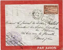 CTN74 - MAROC LETTRE AVION RABAT  / PARIS 1/5/1935 DAGUIN PUBLICITAIRE - Covers & Documents