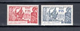 OCEANIE  N° 128 + 129   NEUFS SANS CHARNIERE COTE 7.00€    EXPOSITION DE NEW YORK - Unused Stamps