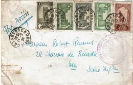 CTN74 - MAROC LETTRE AVION CASABLANCA / EU 11/2/1926 - Covers & Documents