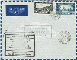 CTN74 - SENEGAL LETTRE AIR - FRANCE BAMAKO  13/11/1937 - Airmail