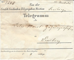 1866- TELE GRAMM Envelopp  With The Message - Covers & Documents