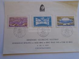 D185131  Czechoslovakia 1959 International Fair In Brno, Michel 1146-1148  Messe Brno -Foire De Brno - Used Stamps