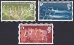 GRANDE-BRETAGNE, 1970, Les Jeux Du Commonwealth, Sport, Athlétisme, Natation, Cyclisme (Yvert 596 Au 598 ) - Unused Stamps