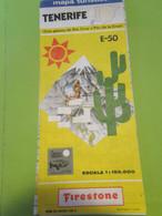 Iles Canaries/ Mapa Turistico/ TENERIFE/ Firestone/Avec Plan De Santa Cruz Et Port /Espagne/ 1989        DT134 - Tourism Brochures