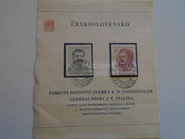 D185134 Czechoslovakia  1949 Mi 603-604 (2) Stalin  -  Praha 1 - Used Stamps