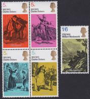 GRANDE-BRETAGNE, 1970, Commémoration Littéraire (Yvert 591 Au 595 ) - Unused Stamps