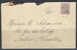 N°140. 20c Paars - Op Brief Stempel 1922 Antoing >> Ixelles - Bruxelles. - Covers & Documents