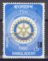 Bangladesh - YT 245A ** MNH - 1987 - Overprinted Conference For Development And New Face Value - Bangladesh
