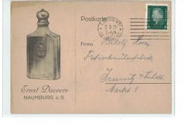 DR Postkarte Beleg - O Leipzig Nach Jessnitz - Ernst Daevers Naumburg Saale Parfüm Fabrik - Werbung Reklame - Briefe U. Dokumente