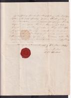 DDAA 286 - DEUTSCHLAND HUY NEUSTEDT - Document De 1847 Avec Superbe Kirchen Segel - Vorphilatelie