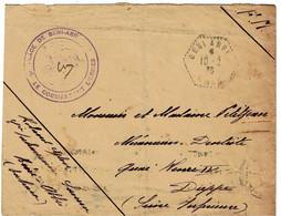CTN74 - ALGERIE LETTRE EN FM  BENI-ABBES / DIEPPE 10/4/1936 CACHET DE VAGUEMESTRE - Covers & Documents