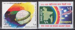 Bangladesh - YT 331-332 ** MNH - 1991 - UN Decade Against Drugs - Bangladesh